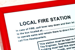 Fire safety instructions